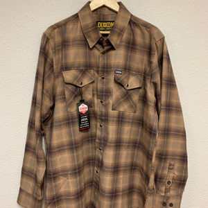 DIXXON Flannel - Pearl Snap - Tan/Brown